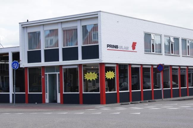 Ingang Shoeroom en kantoor Prins Glas