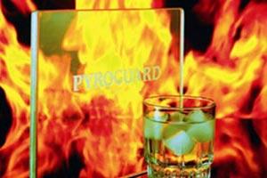 Brandvetragend glas